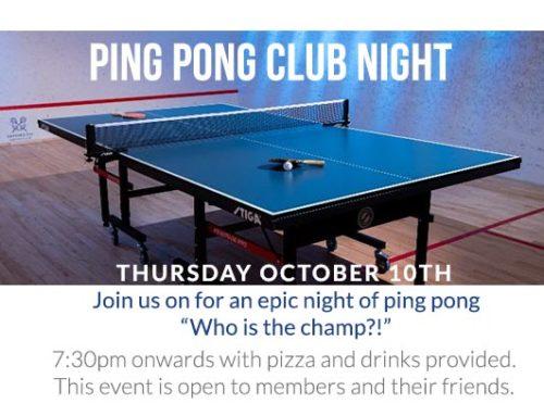 Ping Pong Club Night