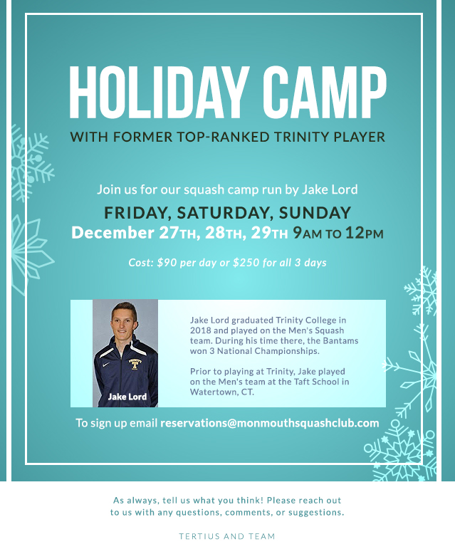 Holiday Squash Camp