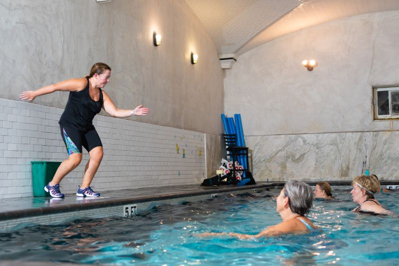 Aqua fit group class